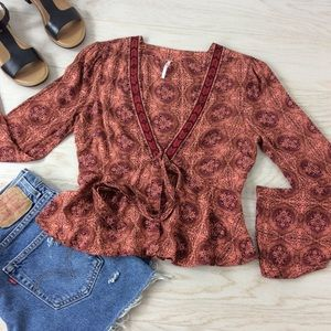 Free People / Time of Your Life Coral Combo S